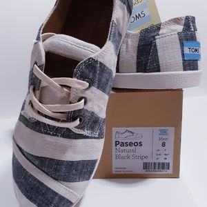 TOMS Paseos Natural Black Stripe